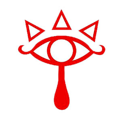 Zelda Eye of the Truth Logo Vinyl Decal Sticker High glossy, premium 3 mill vinyl, with a life span of 5 - 7 years!