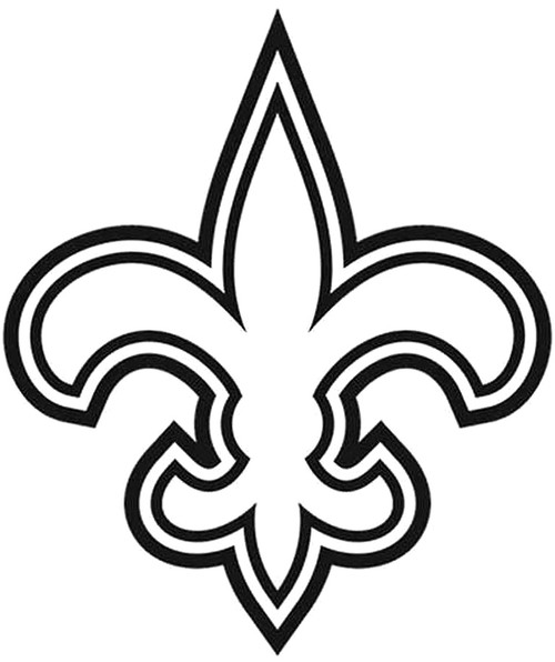 New Orleans Saints 11 Vinyl Sticker