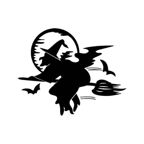 Halloween Witch Vinyl Sticker