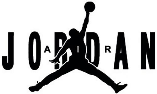 Michael Jordan Logo 2 Vinyl Sticker