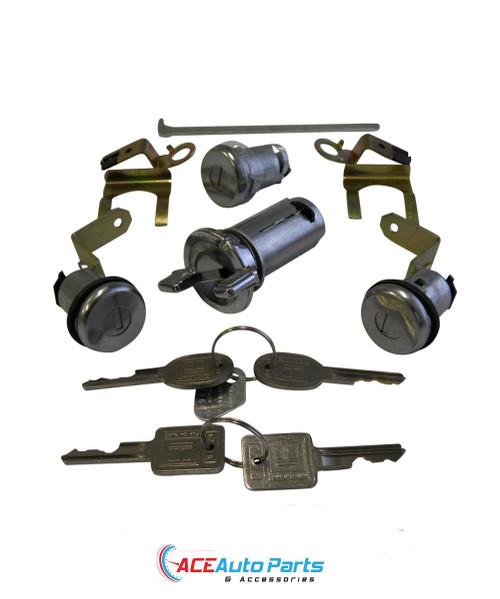 Ignition barrel + door locks + boot lock set For Holden HQ+HJ+HX