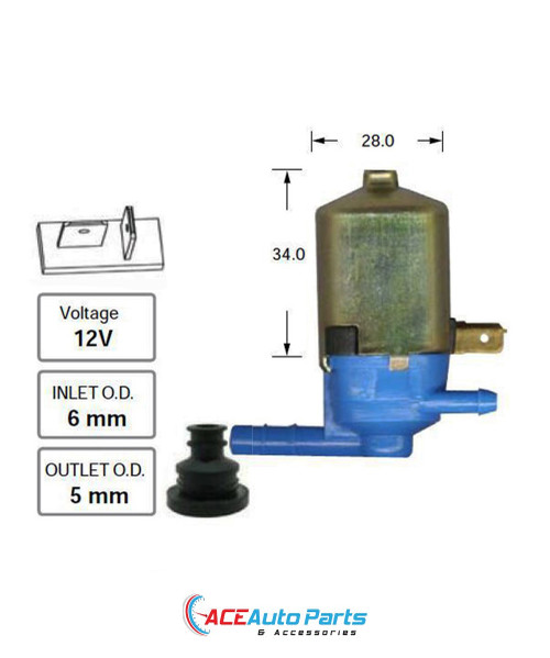Front Windscreen Washer Pump For Holden Scurry 1985-1987