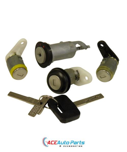 Ignition Barrel + Door Locks + Boot Lock Set For Holden Commodore VN+VP+VR