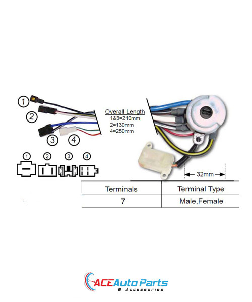 Ignition Switch For Mazda 121 1988 to 02/1991