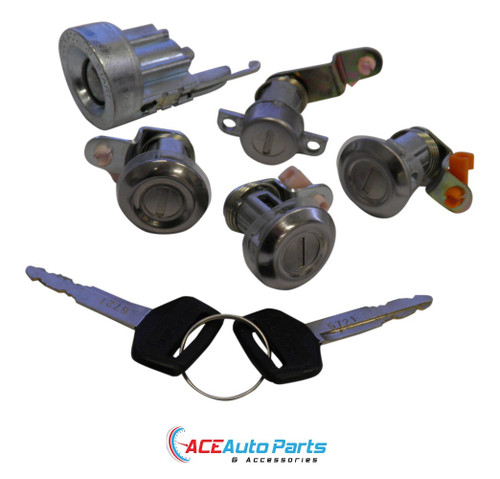Ignition barrel & door locks set fits Toyota Hiace Van 1982-1987
