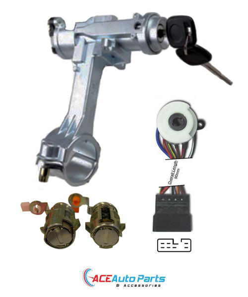 Ignition Barrel + Switch + Door Locks For Toyota Hilux 08/91-07/97