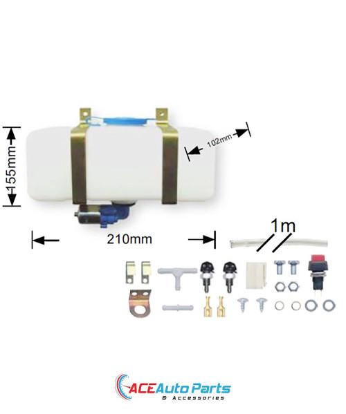 Windscreen Washer Bottle+Pump+Fitting Kit For Holden HK HT HG HQ HJ HX HZ
