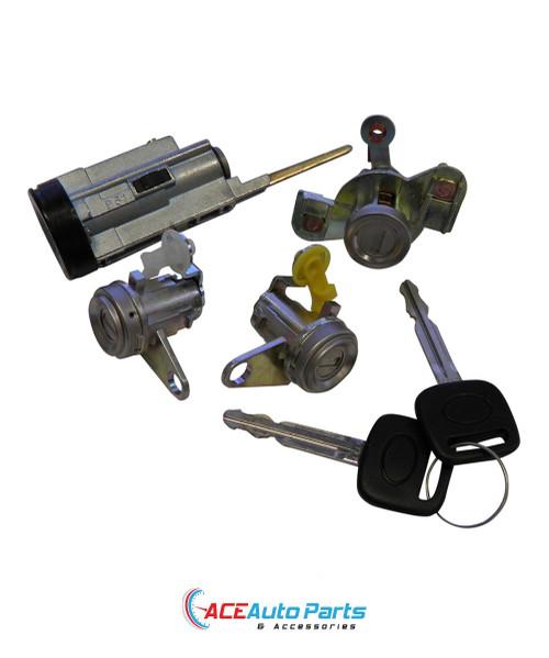Ignition Barrel Door Locks Set For Toyota Corolla AE101 + AE102 94-98