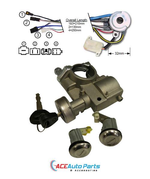 Ignition Barrel + Switch + Door Locks Set  For Mazda Bravo + B Series 85 to 98