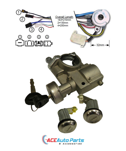 Ignition Barrel + Switch + Door Locks For Ford Courier PC + PD 1985 to 1998