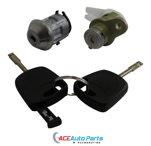 Ignition barrel + Right Door Lock For Ford AU BA Falcon With Keys + Chips