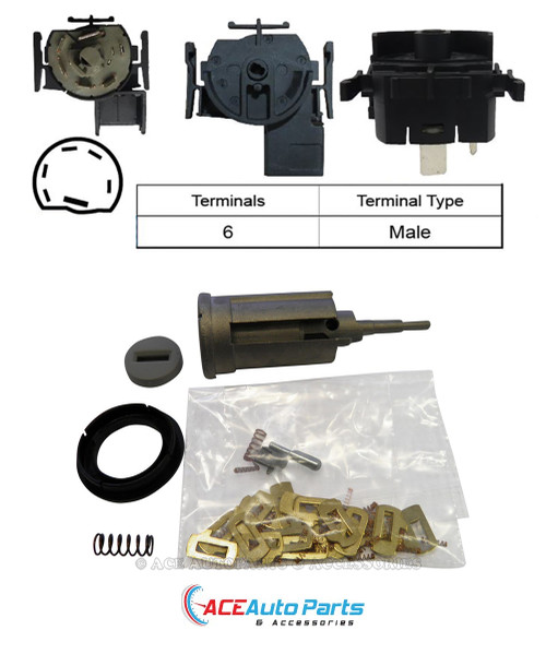 Ignition Barrel + Switch For Holden Astra TS 1998-02/2001