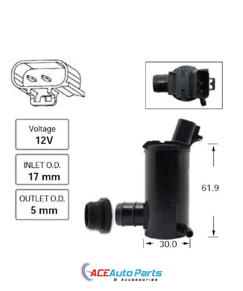 Windscreen Washer Pump For Toyota Camry ACV36 + MCV36 2002-2006