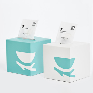 The Prenatal for eggs box and The Prenatal for sperm box, side by side