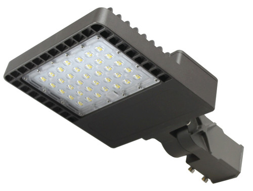 60W LED Street And Parking Light Fixture Directional 90x145 Beam Angle 5000K Pole and Wall Installation
