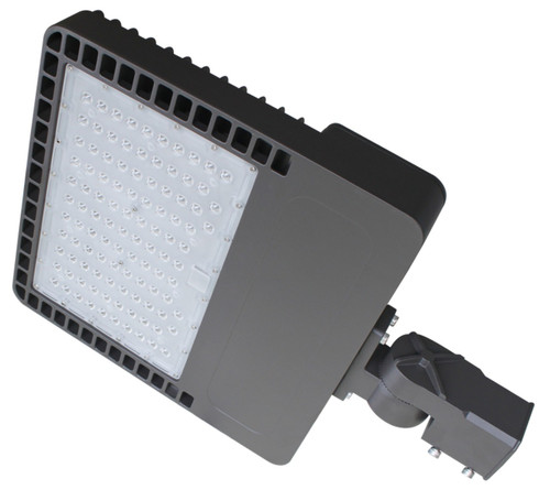 200W LED Street And Parking Light Fixture Directional 90x145 Beam Angle 5000K Pole and Wall Installation
