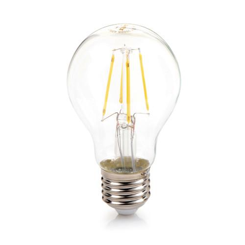 Set of 10 Filament A19 LED Bulb E26 Base Clear Glass 4 Watt 3000K Warm White