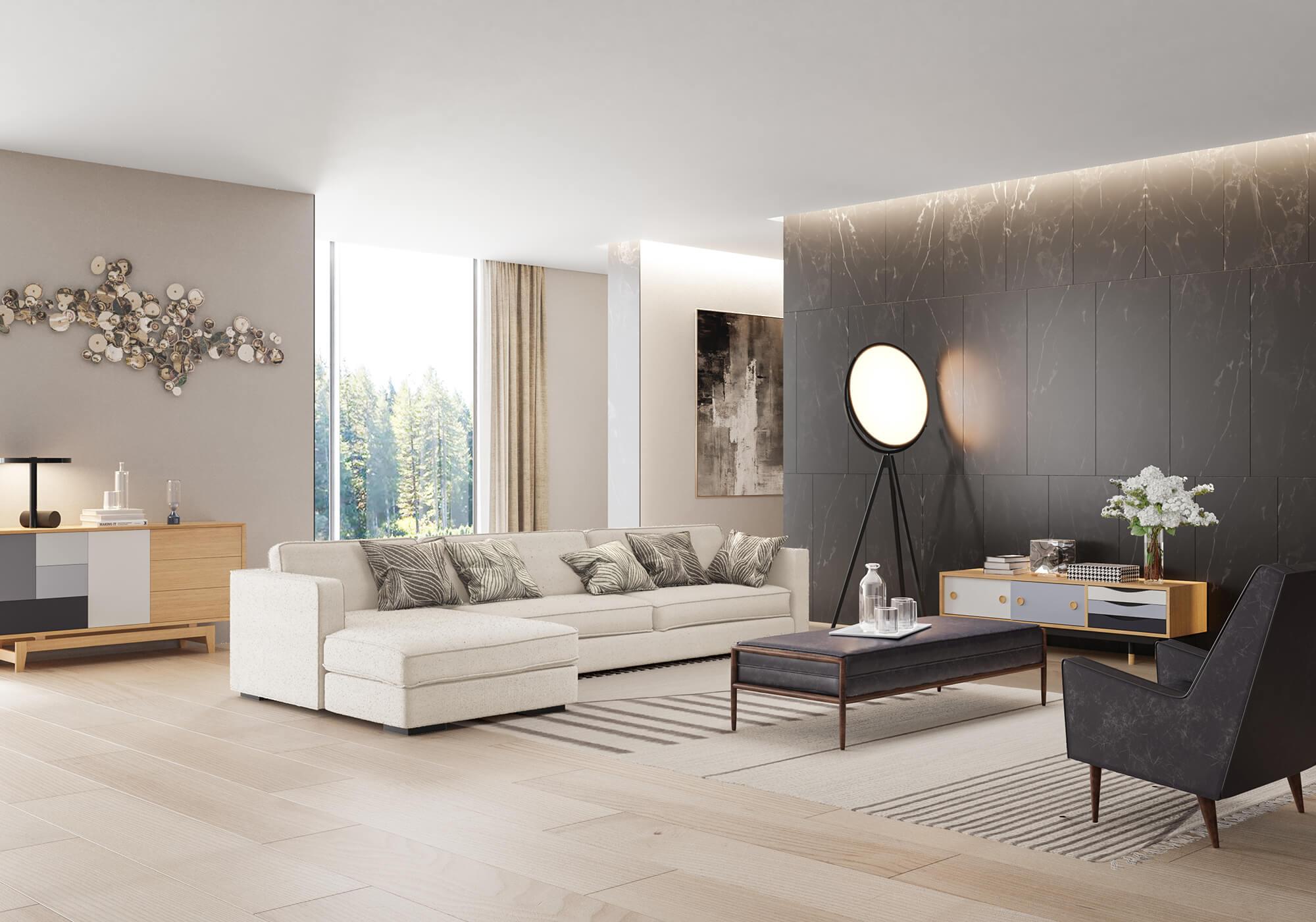 Krisel1 Fritz Platform Theory Mid Century Modern Sofa
