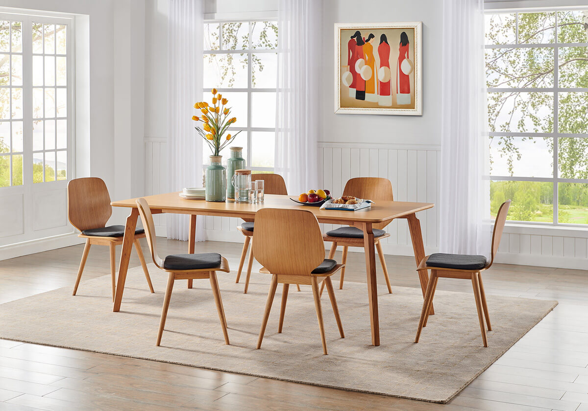 Kilm Oslo 1 Mid Century Walnut Dining Chairs