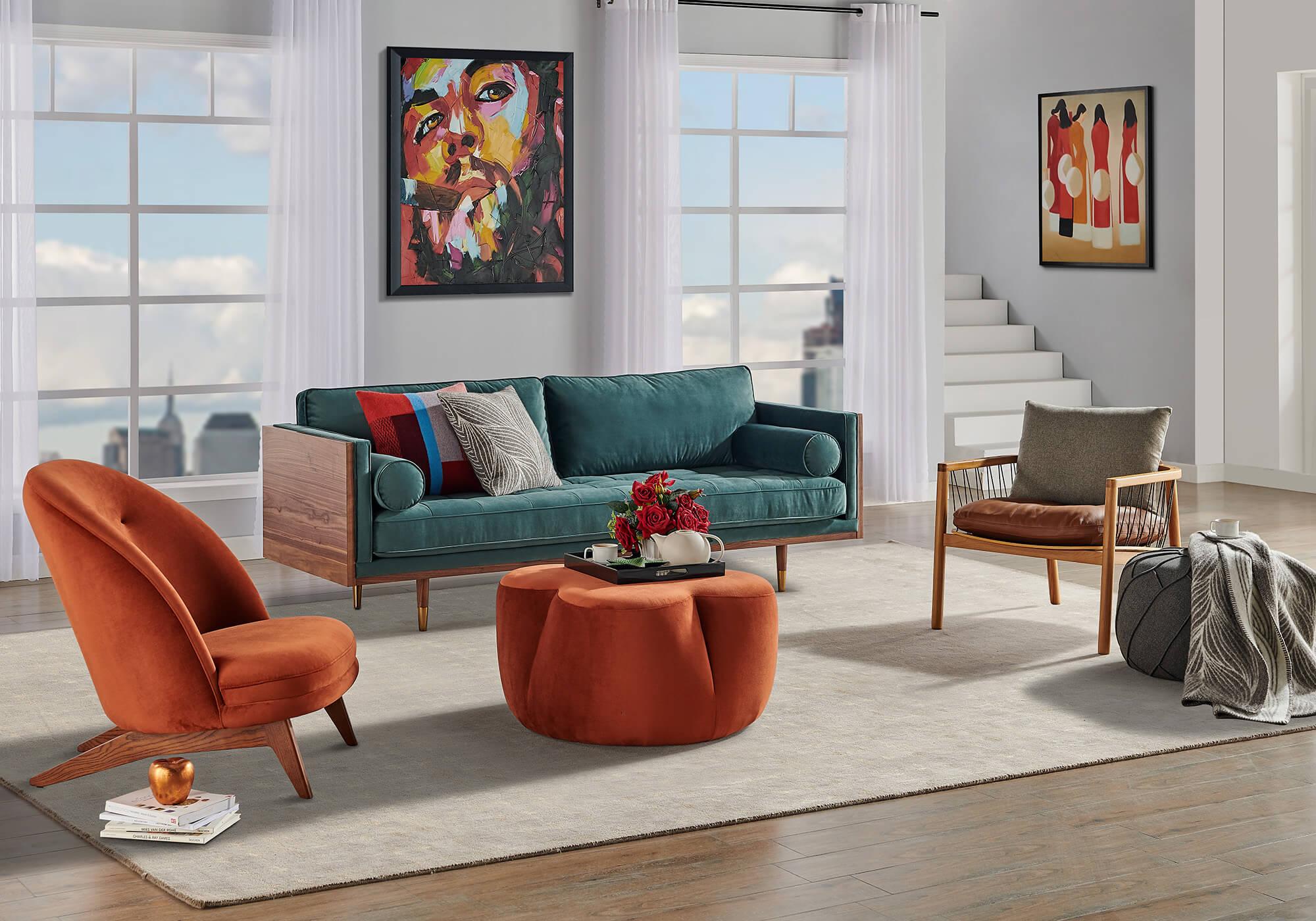 Woodskan 3 Crosshatch Buttercup Fabric Sectional Sleeper Sofa