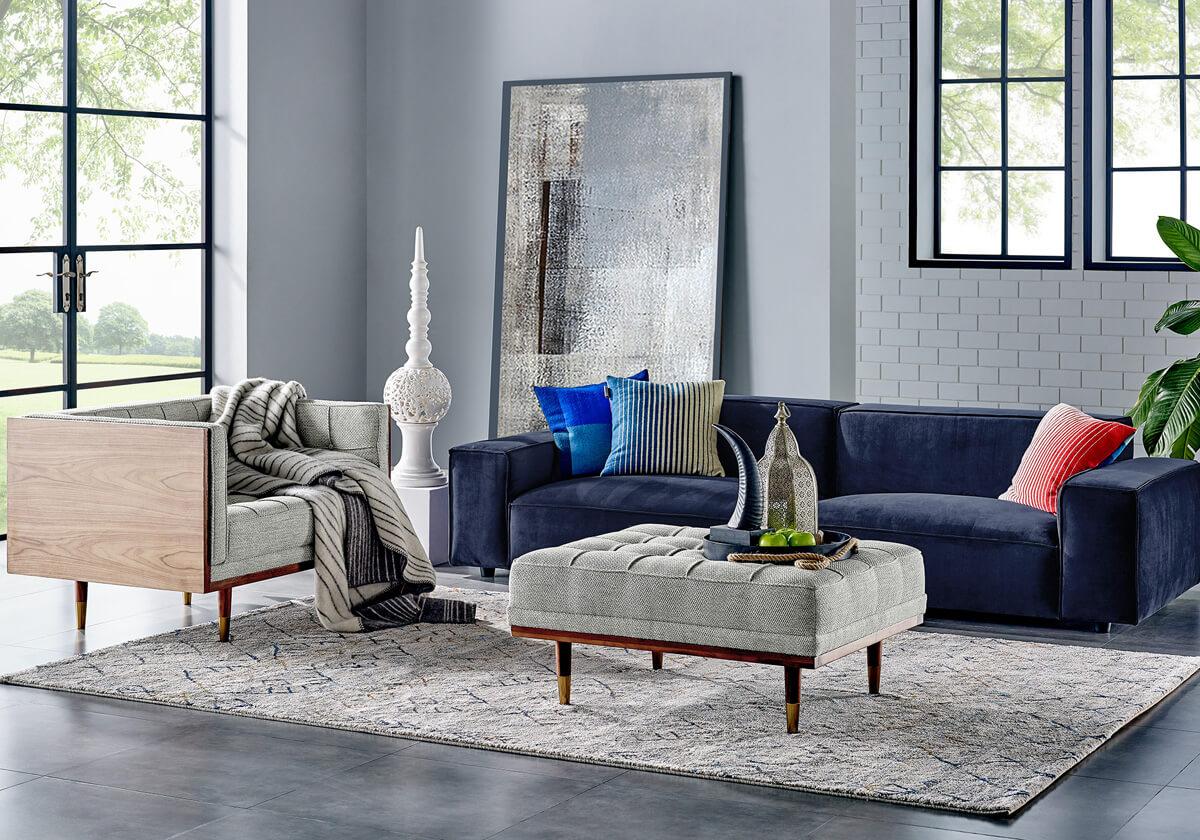 Bondi Woodrow B Performance Fabric Sofa