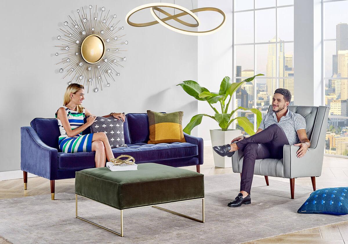 Brando Krisel Bumper Three Seater Sofa