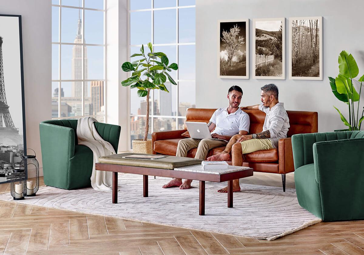 Churchill 3 TubbyEV Teraz Mid Centruy Modern Sofa