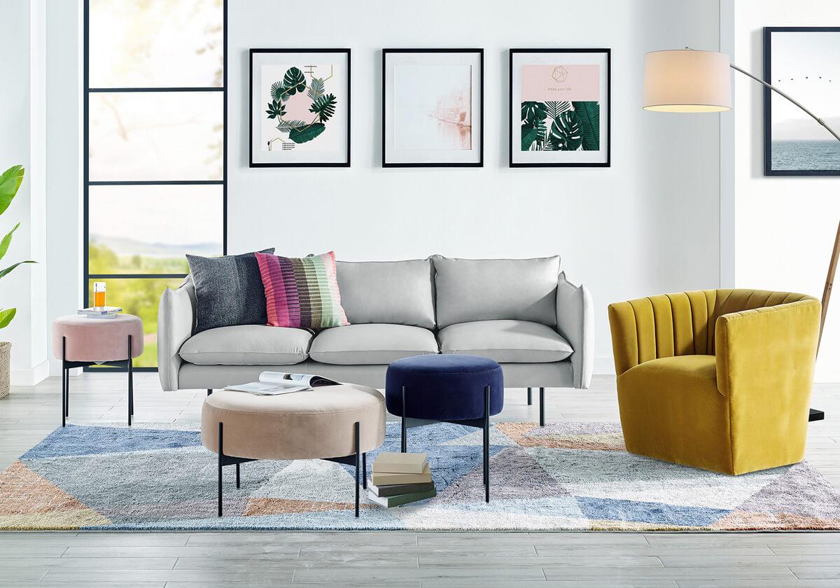 Oscar Tubby Dot Modern Sofa