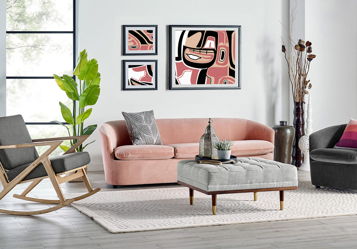 Vogue Partridge Woodrow 3 Seater Velvet Sofa