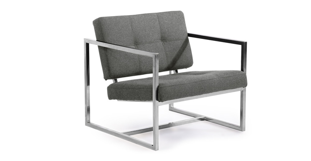 Cube Chair, Cadet Grey