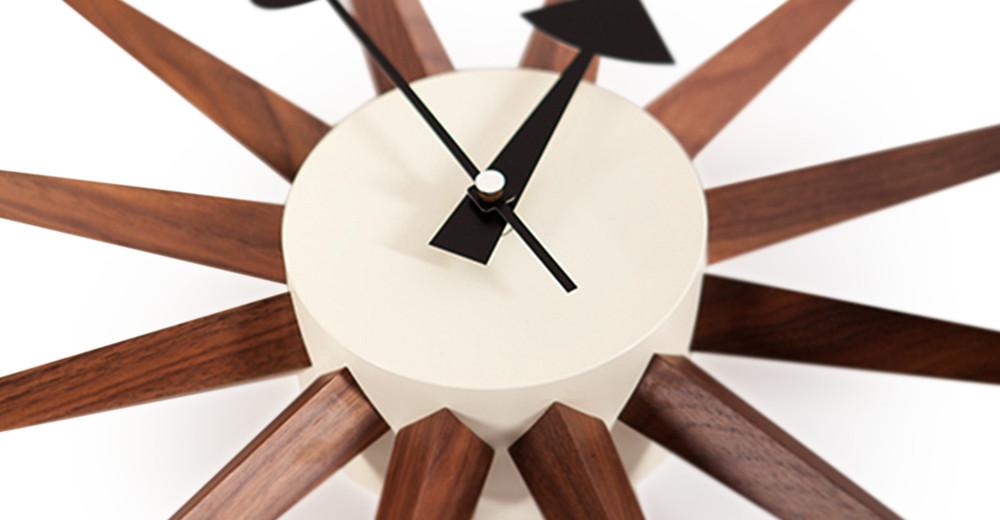 cee962b12369 George Nelson Sunburst Clock Walnut - Kardiel