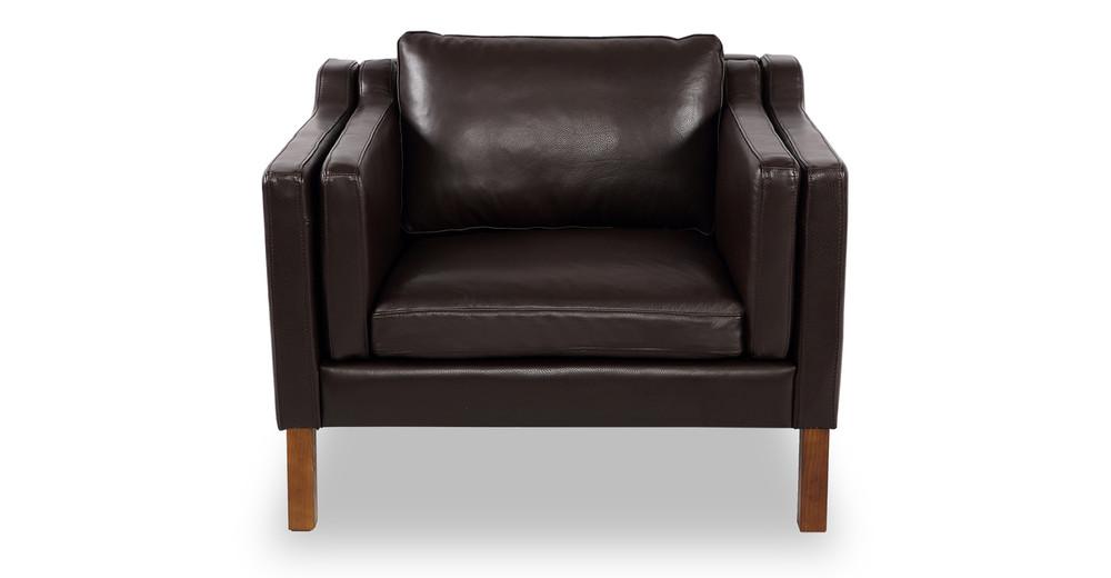 Monroe Chair, Brown Aniline Leather