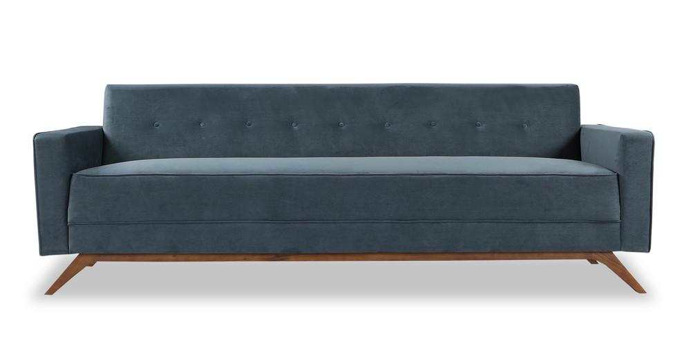 """Bauhaus 90"""" Modern Fabric Sofa, Neptune"""