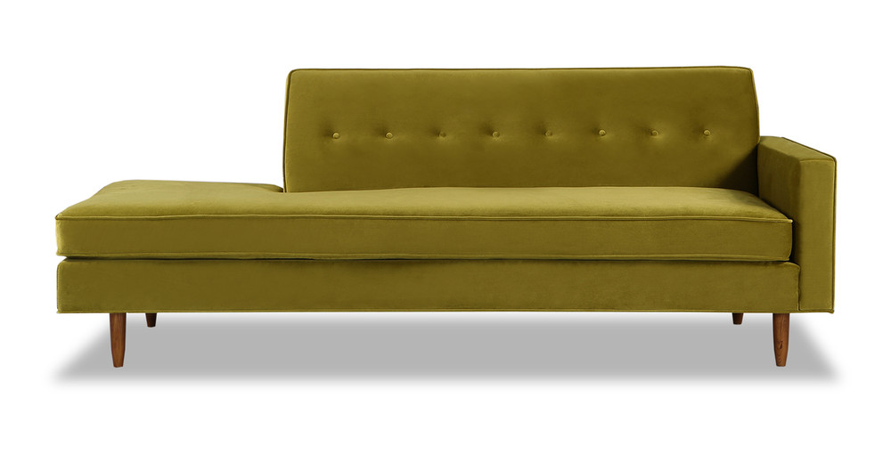 Eleanor Sofa Right, Olive Velvet