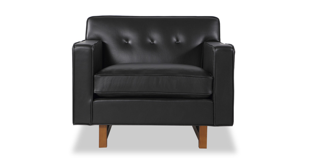 Kennedy Chair, Black Aniline Leather
