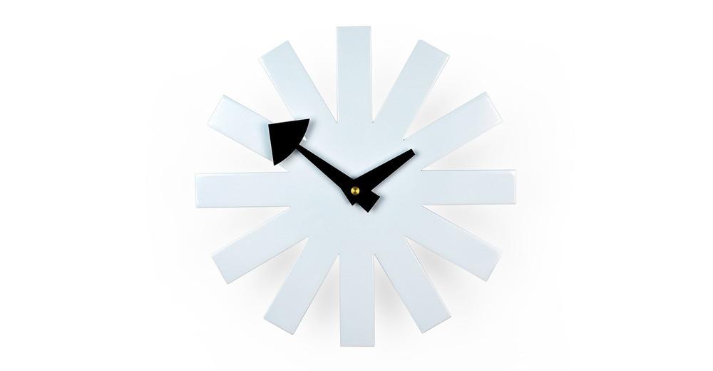 George Nelson Asterisk Clock, White