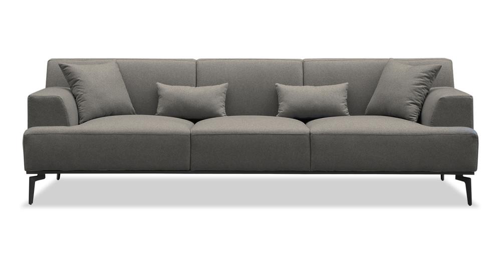 """Sherman 97"""" Fabric Sofa, Cadet Grey"""