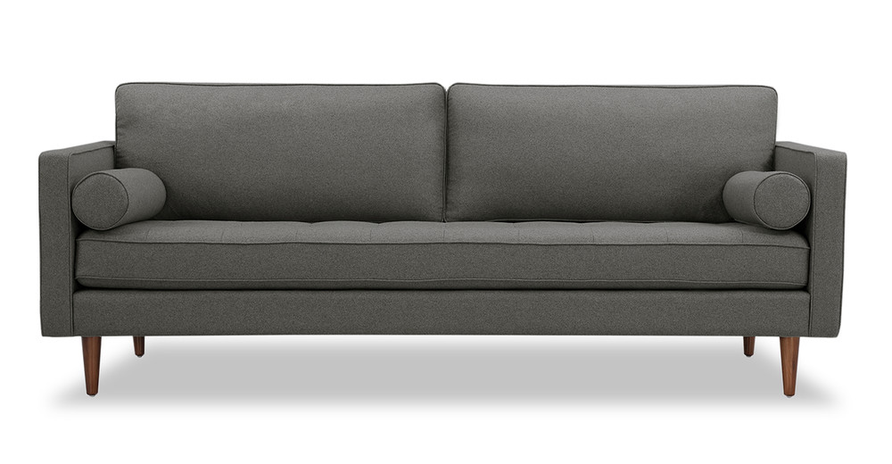 "Elle 88"" Fabric Sofa, Cadet Grey Wool"