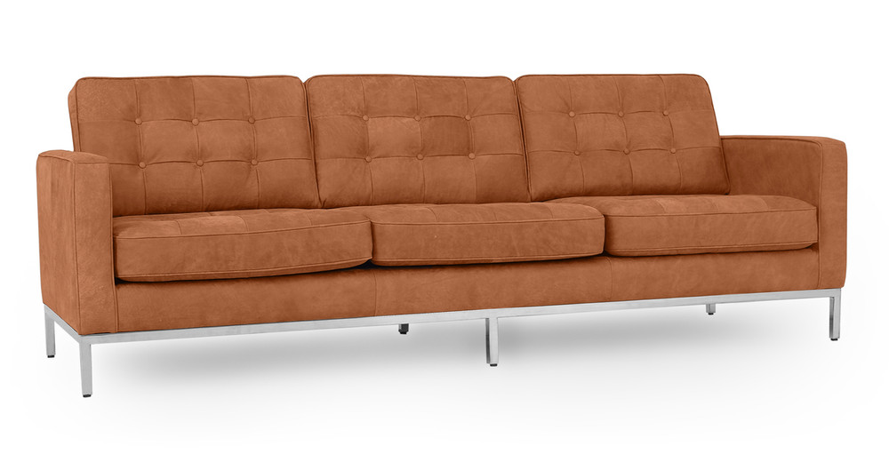 5fbac4a27af Florence Knoll Mid Century Modern Leather Sofas by Kardiel