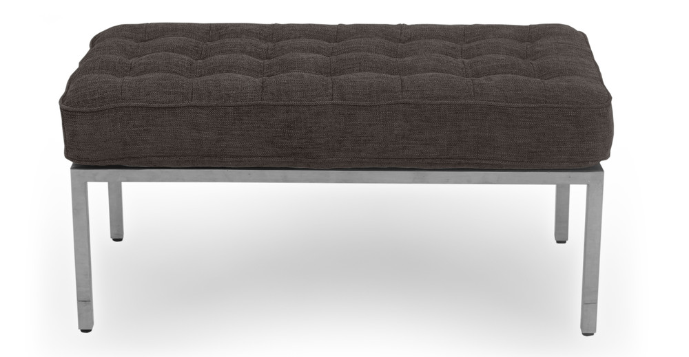 Fabulous Florence 36 Fabric Bench Steel Twill Gmtry Best Dining Table And Chair Ideas Images Gmtryco