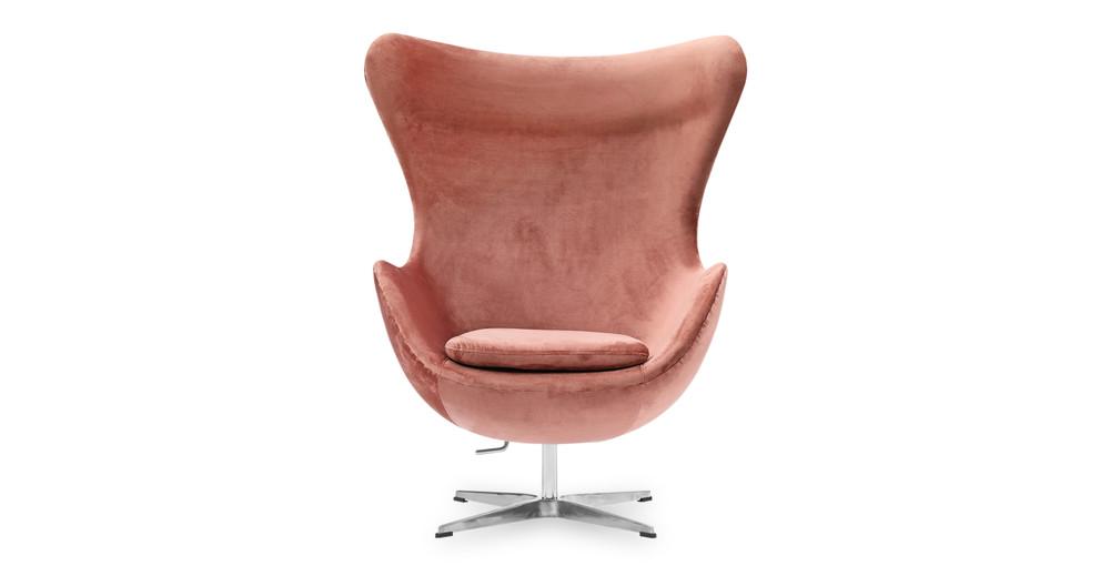 Miraculous Amoeba Swivel Chair Dusty Rose Velvet Theyellowbook Wood Chair Design Ideas Theyellowbookinfo