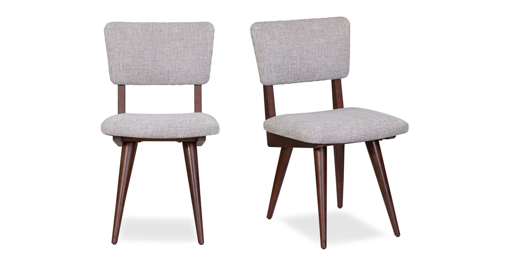 """Boomer 19"""" Fabric Chair, 2 Pc Set, Taupe"""