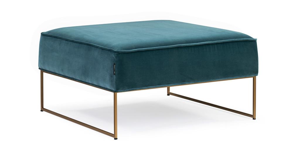 Bumper Fabric Ottoman, Tranquil Velvet
