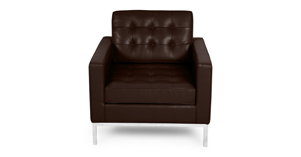 Florence Chair, Choco Brown Premium Leather