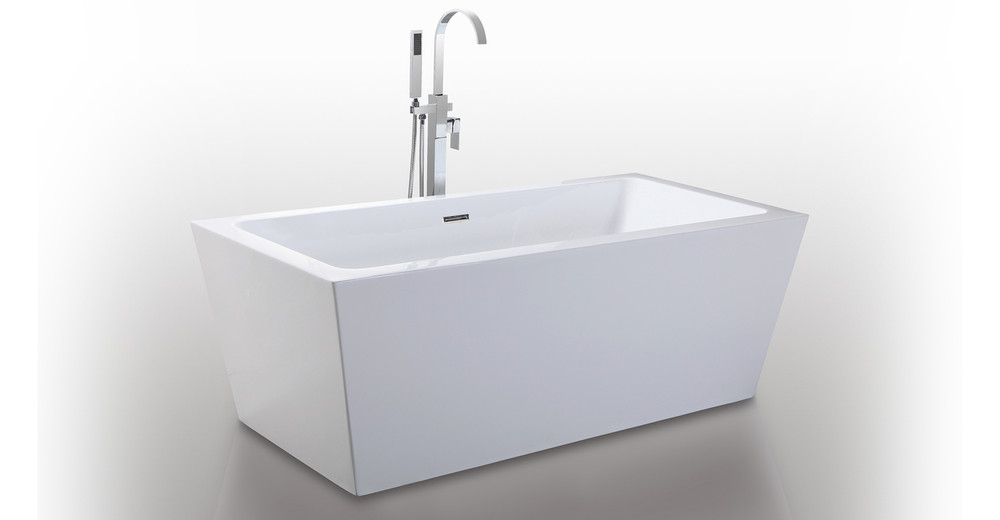 "Centaur Bathtub 63"" Rectangle Overflow"