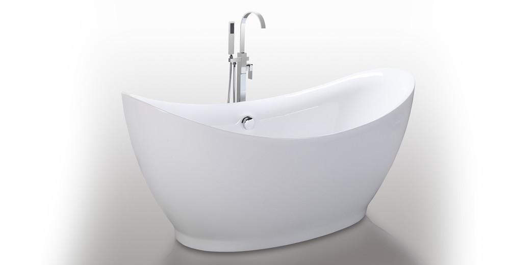 """Eleusis Bathtub 67"""" Round Overflow"""