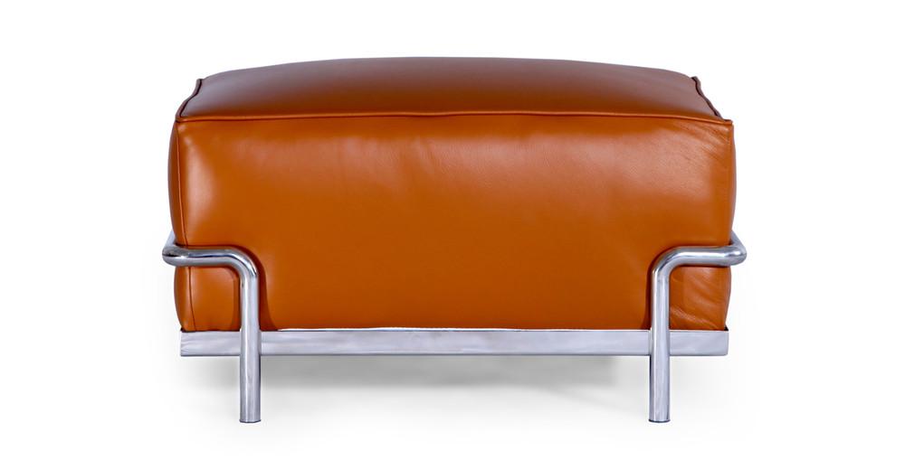 Roche Ottoman, Caramel Premium Leather