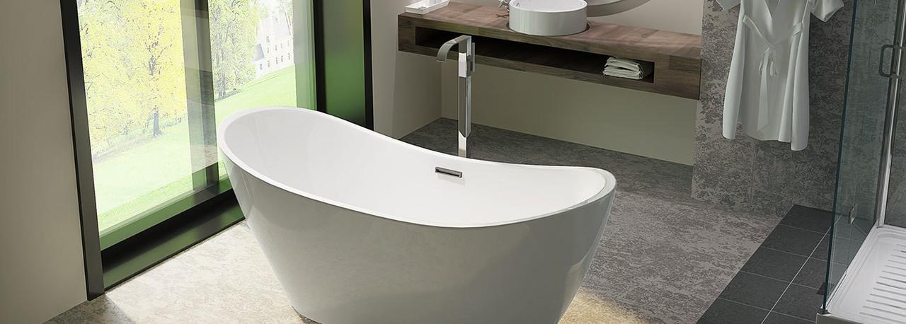 Helixbath Acrylic Modern Freestanding Bathtubs