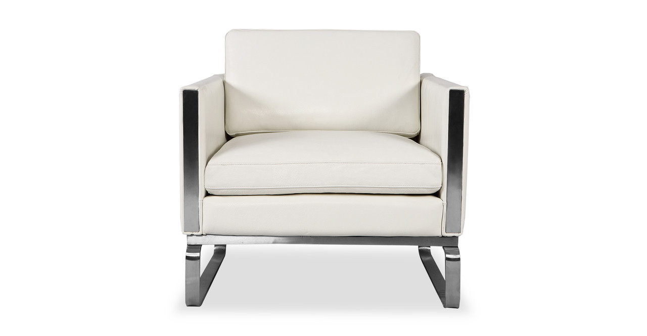 Amsterdam Chair White Aniline Leather Kardiel