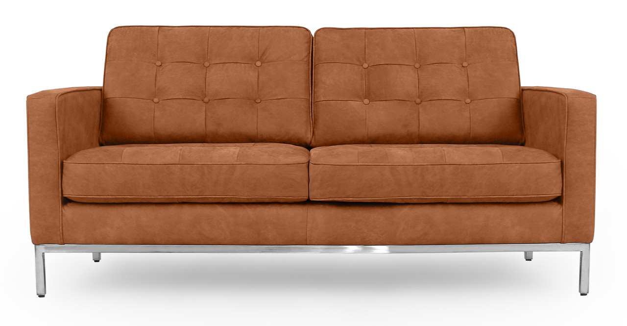Florence Knoll Mid Century Modern Leather Sofas by Kardiel
